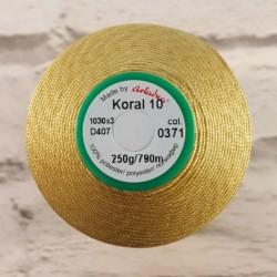 Kordonek Koral 10 złoty 371