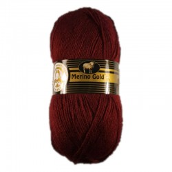 Włóczka Merino Gold Bordo 035