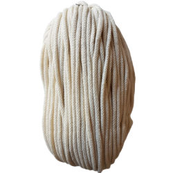 Sznurek bawełniany 5mm ekrii