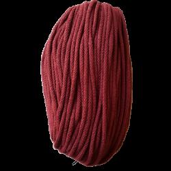 Sznurek bawełniany 5mm bordo