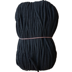 Sznurek bawełniany 5mm czarny
