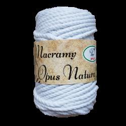 Macramy Opus Natura biały 4mm
