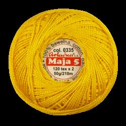 Kordonek Maja 5 Żółty 0335