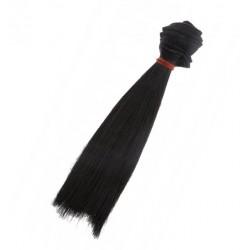 Włosy do lalek - czarne