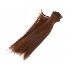 Włosy do lalek - kasztanowe...