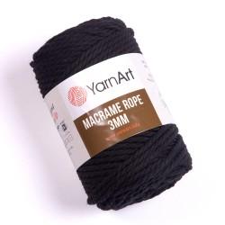 Macrame Rope 3mm czarny 750