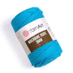 Macrame Rope 3mm turkus 763