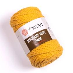 Macrame Rope 3mm żółty 764