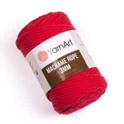 Macrame Rope 3mm czerwony 773