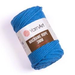 Macrame Rope 3mm niebieski 786