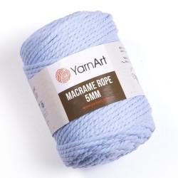 Macrame Rope 5mm niebieski 760