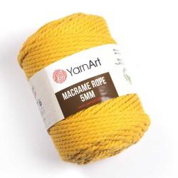 Macrame Rope 5mm żółty 764