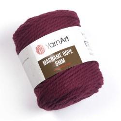 Macrame Rope 5mm bordo 781