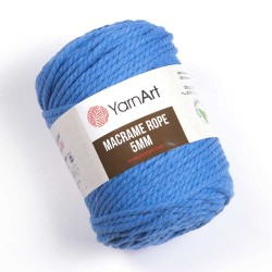 Macrame Rope 5mm niebieski 786