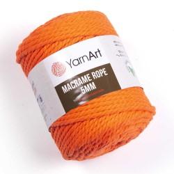 Macrame Rope 5mm neon oranż...