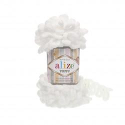 Puffy Alize Biały 55