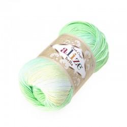 Bella Batik 2131 seledyn-biały