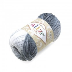 Bella Batik 2905 szary-biały